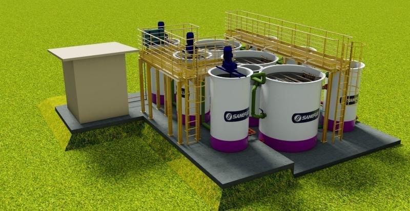 Projeto de ETE industrial