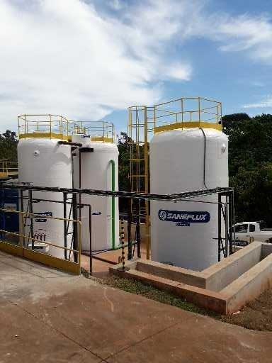 Sistema de tratamento de esgoto industrial