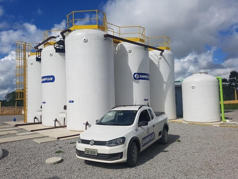 Tratamento de agua e esgoto industrial