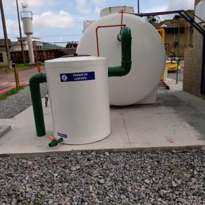 Instalação de estação de tratamento de esgoto