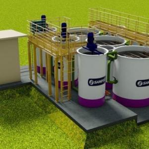 Projeto de tratamento de aguas cinzas
